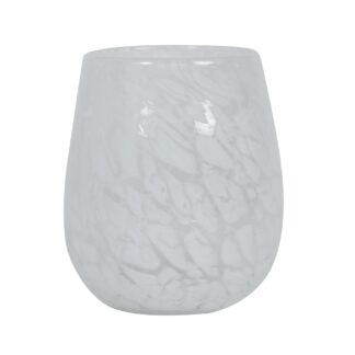 Teelicht Teelichthalter WINDLICHT WEIß schweres Gas MARMOROPTIK Lichtdekoration Windlicht WEIß Glas Dekolieblinge