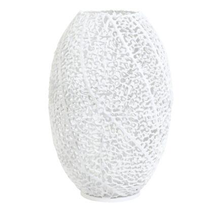 WINDLICHT KORALLE WEIß Matt mit Glaseinsatz Sommer Licht Mediterran Teelicht Teelichthalter Windlicht Koralle Sinula