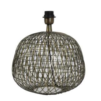 Lampenfuß bronze antik rund Metall Durchmesser 32 cm x 28 cm Alwina Lampenfuß von Light and Living