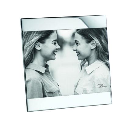 Bilderrahmen silber Glas Nickel glänzend für Bilder 13x18 Format von Philippi Bilderrahmen Zak
