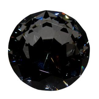 Kristall Diamant Deko Diamant schwarz smoke Diamant-facetten groß schwer Luxus funkelnder Diamant schwarz 12 cm Cor Mulder