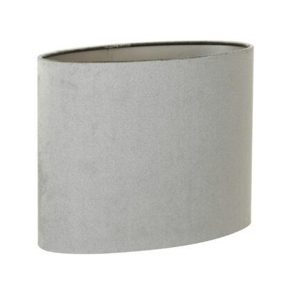 Lampenschirm zinc taupe oval schmal Velours Samt 30x30x25 cm von Light & Living