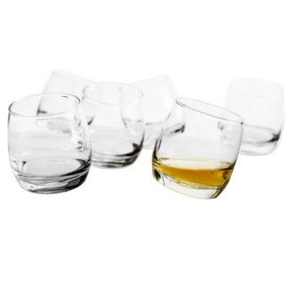 Whisky Glas Set 6 tlg rocking Bar abgerundeter Boden Set in Geschenkbox Bar-Utensilien von Sagaform