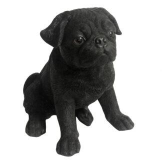 Dekofigur Hund Mops schwarz Hundeliebhaber Mops Liebhaber