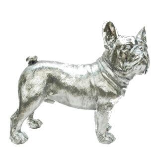 Dekofigur Hund Mops silber Hundeliebhaber Mops Liebhaber Hund