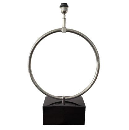 Lampenfuß Kreisrund Kreis Form auf Fuß schwarz Tischlampe Luxus Licht Dekoration