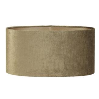 Lampenschirm oval länglich BRONZE GOLD Samt Velours gerade schmale Form 58 cm breit edel Luxus Extravaganz Lampenschirm