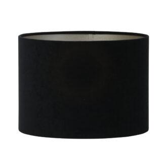 Lampenschirm schwarz taupe Samt Velours edel von der Marke Light and Living edel Lampenschirm Licht Tischlampe