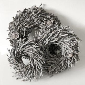 Naturkranz Rebenkranz Weidenkranz grau weiß gekalkt Dekokranz Wurzelkranz Ø30-50 cm Wandkranz Türkranz Kranz Dekoration