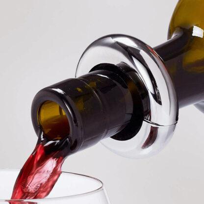 Tropfenfänger Tropfring magnetisch versilbert edel Weinring für Weinflaschen von Edzard
