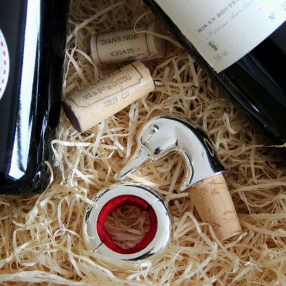 Tropfenfänger magnetisch silber versilbert edel für Weinflaschen von Edzard