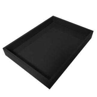 Lacktablett schwarz Tablett Lack Klavierlack schwarz Serviertablett Dekotablett schwarz länglich 40x29 cm quadratisch