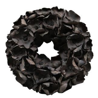 Kranz schwarz Naturkranz Blütenkranz schwarz Palm Blüte Palm Blume Blüten Adventskranz Osterkranz Tischkranz Herbstkranz Wandkranz Dekokranz schwarz Weihnachtskranz schwarz