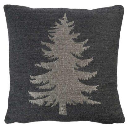 Kissenhülle Tannenbaum silber grau anthrazit Weihnachtskissen Hülle Tannenbaum Chalet Kissen Hüttenstil