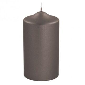 Kerze Stumpenkerze braun metallic von Fink edel lange Brenndauer Kerzenwachs Licht Weihnachtsdekoration Adventskranz Kerzen