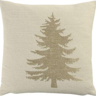 Kissenhülle Tannenbaum beige gold Sand Weihnachtskissen Hülle oh Tannenbaum Chalet Kissen Hüttenstil Landhaus