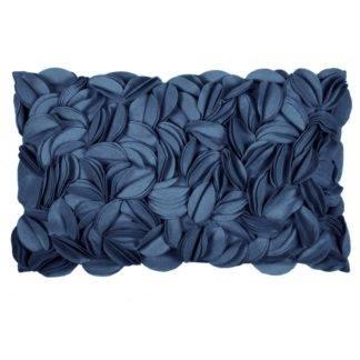 Filzkissen Kissen aus Filz Blätter Blüten Motiv blau petrol Kissen Dorothy von pad concept