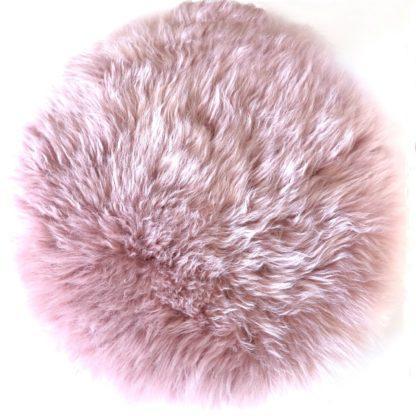 Stuhlauflage rosa Pad Sitzkissen rosa Lammfell extra weich echt Fell rosa dunkel rosa von auskin