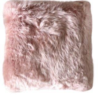 Kissen Neuseeland Lammfell rosa dunkel rosa Kissen Neuseeland extra weich rosa von auskin super Qualität echt Fell 35 cm mit Inlett