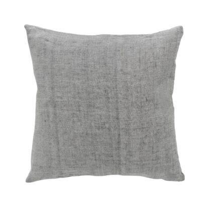 Kissen Leinenkissen Baumwolle Leinen Dekokissen grau 50x50 cm cozy living Sommerkissen Dekoration Leinen