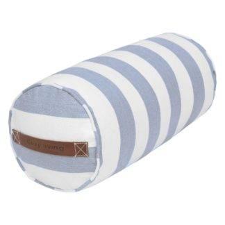 Nackenrolle schwarz weiß gestreift Sommerkissen Kissenrolle Sommerdekoration