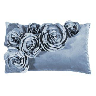 Kissen Samtkissen Kissenhülle Floral pad concept hellblau sky 30x50 cm