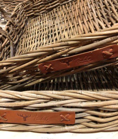 Rattan Tablett Serviertablett Bambus sehr edel mit Griffen