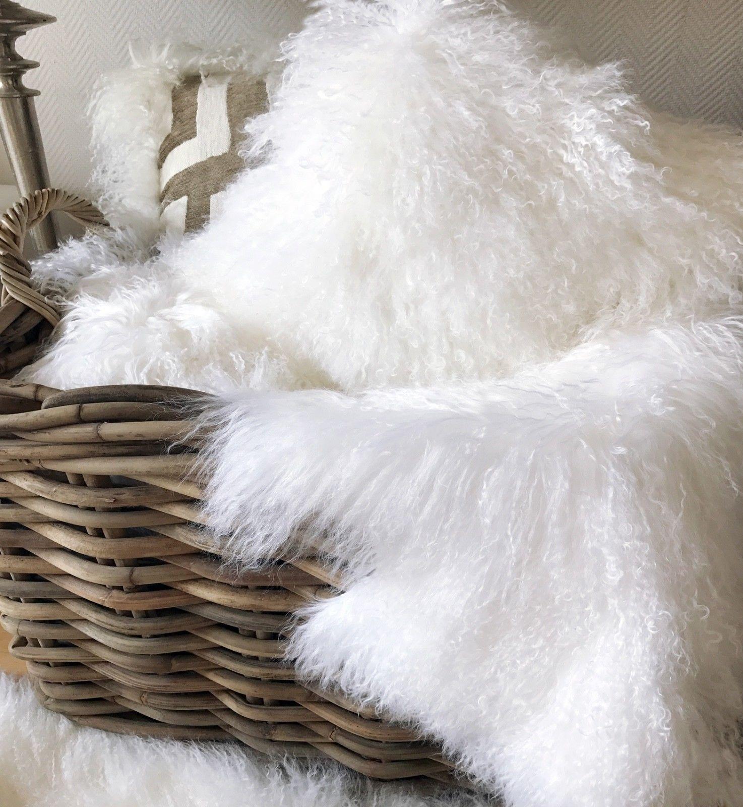 Kissen Tibet Lammfell echt Fell weiß 35×50 cm + Inlett – Giannoula ...